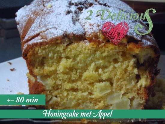 Honingcake met appel recept