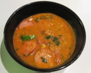 Pittige indische bruine bonensoep recept