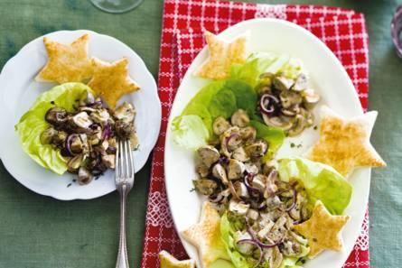 Gebakken champignons met toast