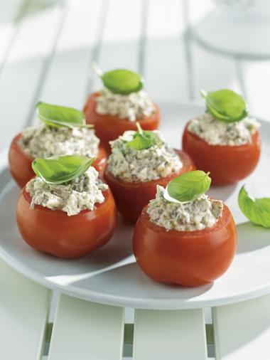Recept 'tomaten gevuld met ricotta'