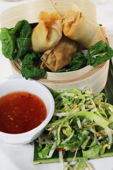 Recept 'loempia's met langoustines en krab'