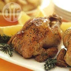 Gebraden kip met knoflook-aardappelen recept