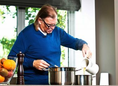 Recept 'salade met girolles en sint-jakobsvruchten'