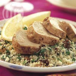 Marokkaanse kip met couscous uit de oven recept