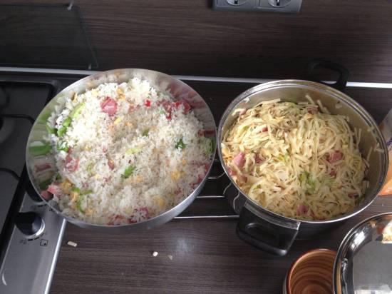 Variatie op nasi van de chinees recept