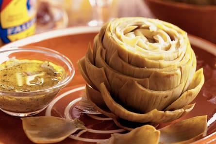 Artichauts vinaigrette  artisjokken met vinaigrette