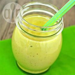 Avocado banaan pindakaas smoothie recept