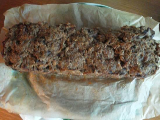 Oven gehaktbrood met ei   champignons recept