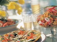 Frittata met zalm, broccoli en champignons recept