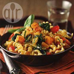Fusilli met geroosterde groenten recept
