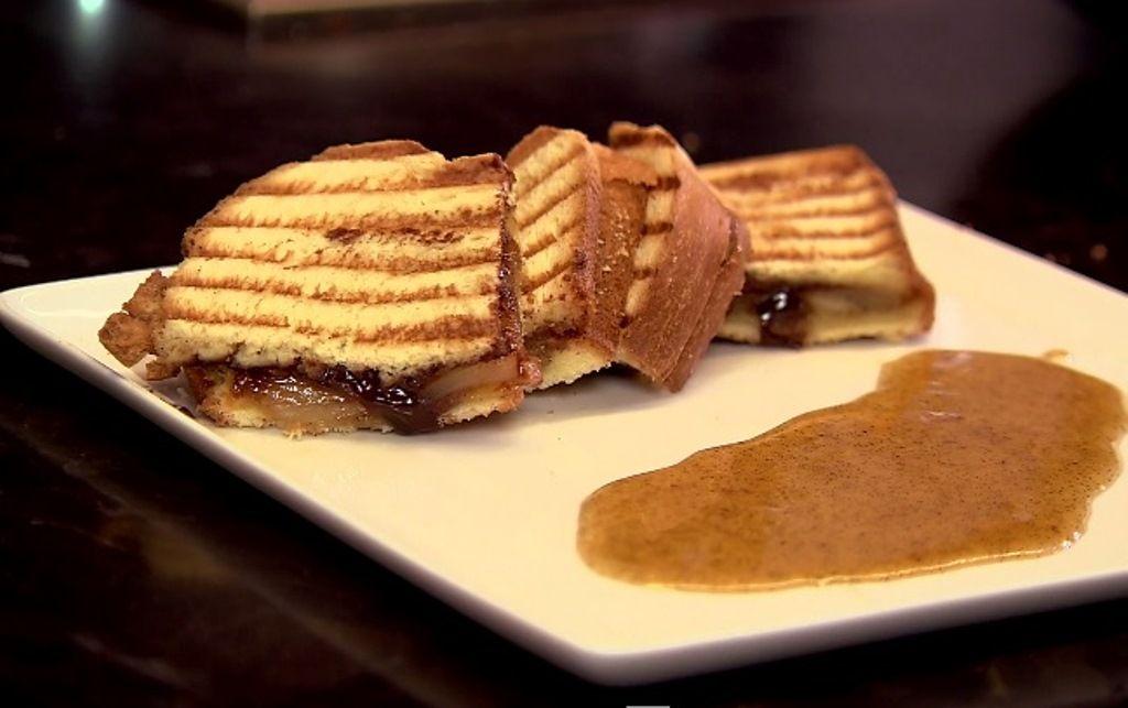 Recept 'panini met ananas en chocolade'