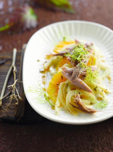 Recept 'eendenbout met venkel & sinaasappel'