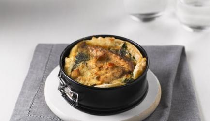 Spinazie-taart met makreel recept