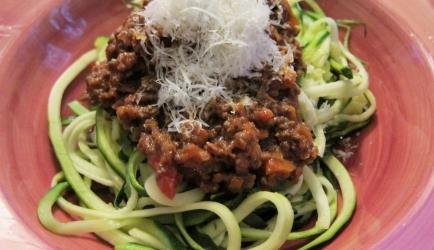 Courgetti bolognese recept