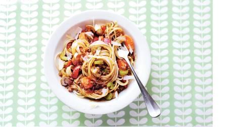 Rijkgevulde spaghetti bolognese