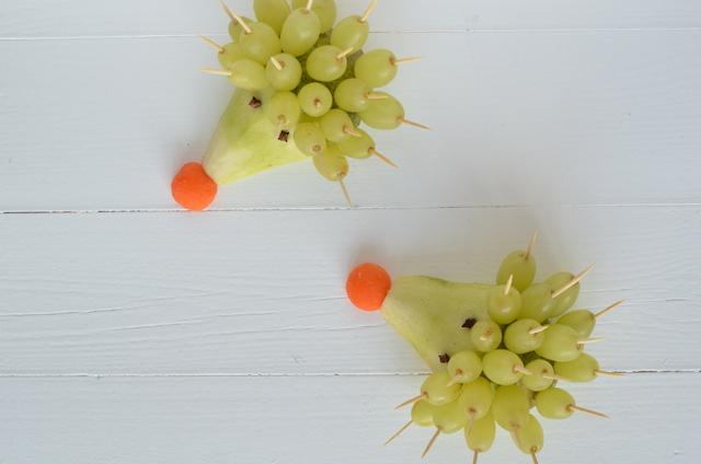 Kidsproof: traktatie fruit egeltjes