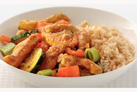 Currykip met ketjaprijst