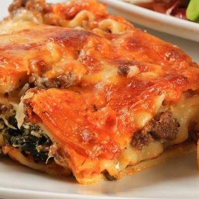 Lasagne florentine met spinazie en mozzarella recept