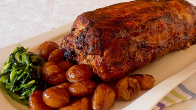 Varkensfilet met kastanjes /lombo de porco com castanhas ...