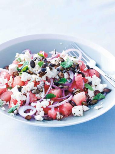 Recept 'watermeloensalade'