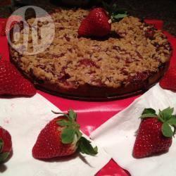 Aardbeien kruimeltaart recept
