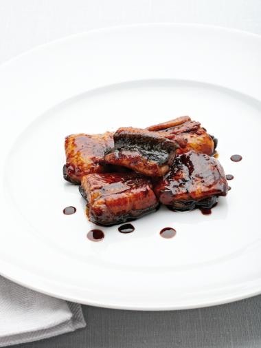 Recept 'gelakte paling met ganzenlever'