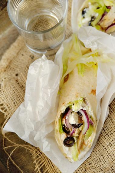 Recept 'griekse maaltijd wrap'