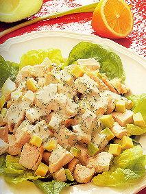 Salade van kip,ansjovis, avocado en veel verse kruiden recept ...