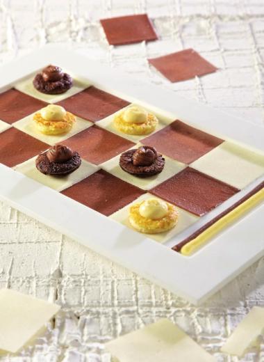 Recept 'chocolade dambord'