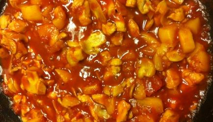 Pilaf met perziken. recept