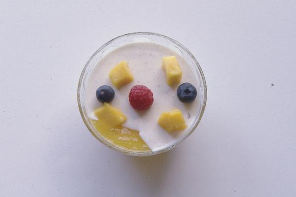 Panna cotta met mango