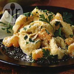Kaastortellini met pompoen en ricotta recept