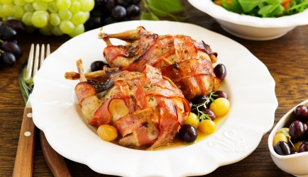 Gevulde kwartel met gorgonzolasaus recept