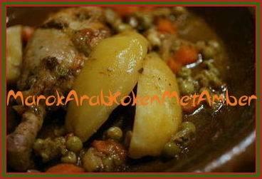 tajine kip met gemengde groenten