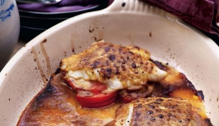 Kabeljauw met mosterd-sojasaus en tomaten (slank) recept ...