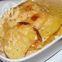 Aardappelgratin met spek en kaas recept