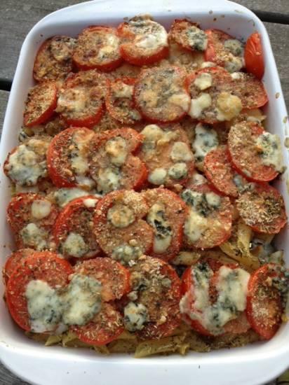 Tomaten-gratin met courgette, pasta en roquefort recept ...