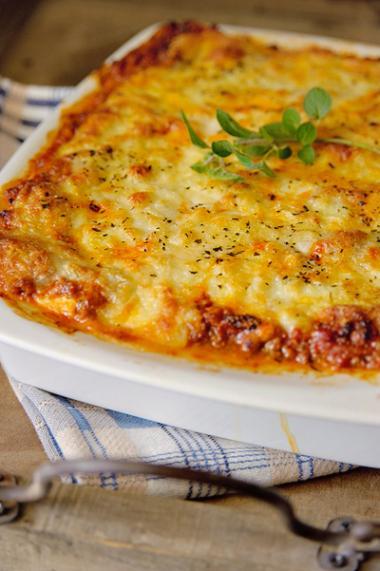 Recept 'lasagne bolognaise'