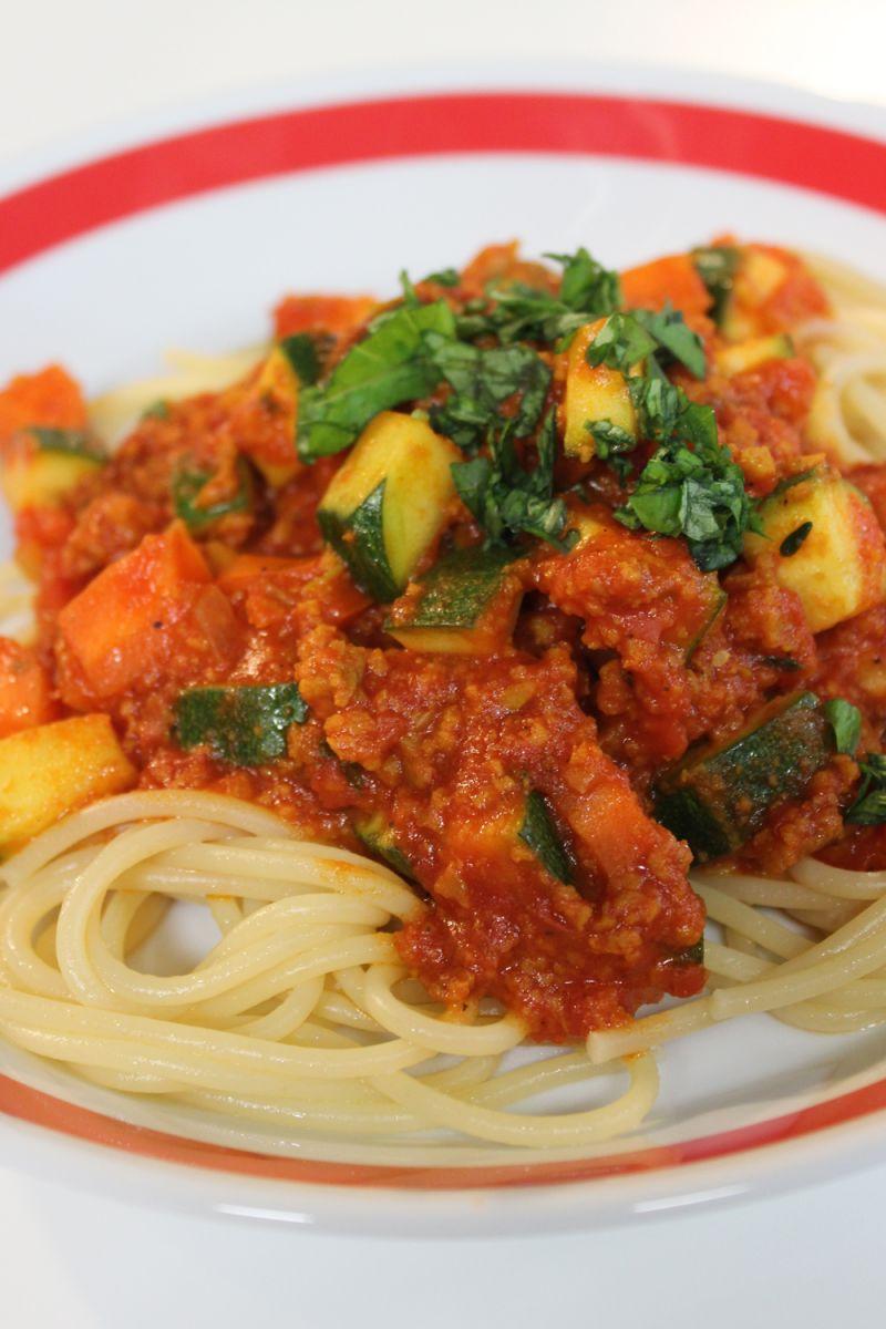 Recept 'spaghetti met seitan'