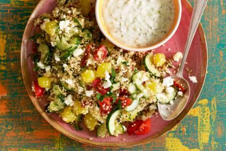Quinoasalade met frisse groenten