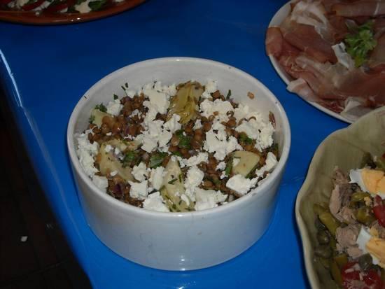 Italiaanse linzensalade met artisjokharten en feta recept ...