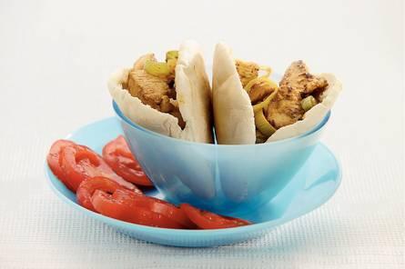 Currypita's met kalkoenfilet