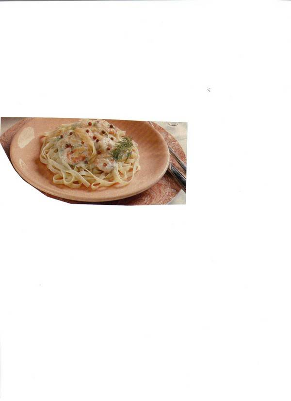 Tagliatelle met zalm-roomsaus recept