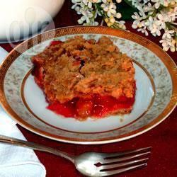 Kersen-rabarbercrumble recept