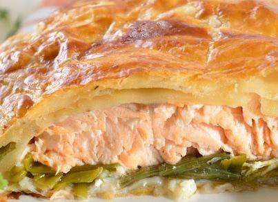 Zalm in bladerdeeg recept