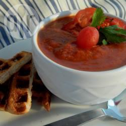 Geroosterde tomaten-paprikasoep recept