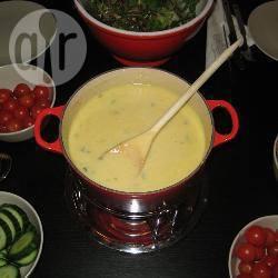 Kaasfondue met blauwe kaas recept