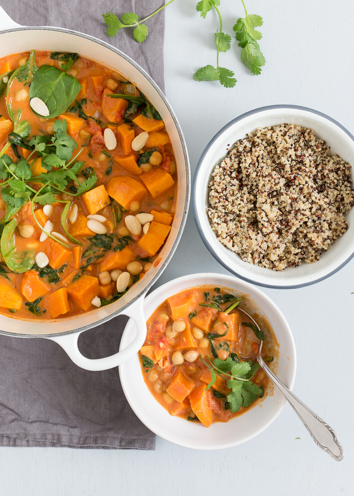 Fresh & easy: zoete aardappel curry