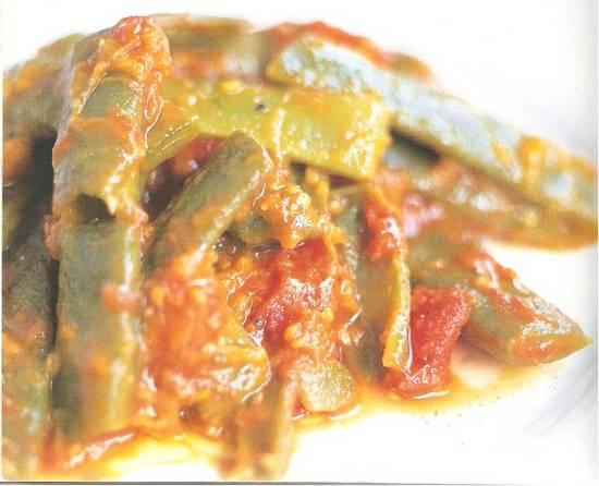 Snijbonen in tomatensaus (van jamie) recept