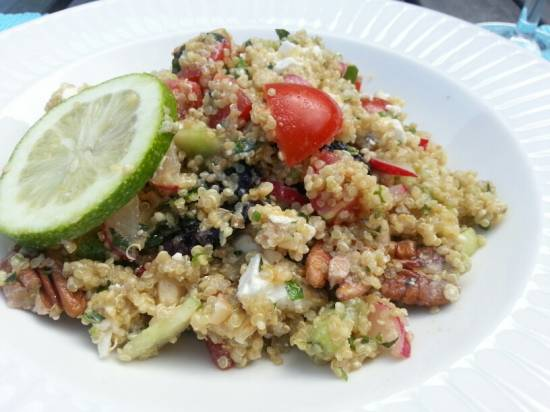 Quinoasalade, lekker fris voor in de zomer recept